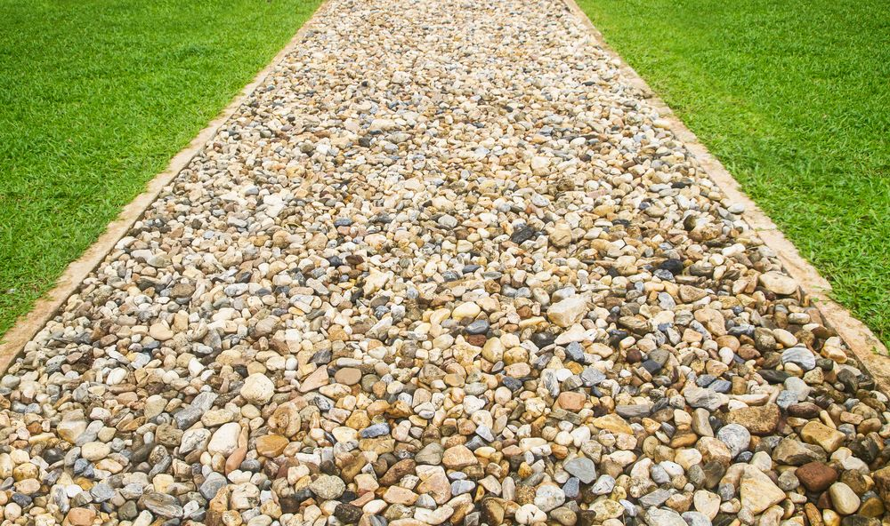 Aggregate product used on a customers garden path
